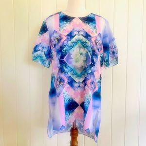 🌱JAYSON BRUNSDON BLACK LABEL Sz 8 Pink Purple Top